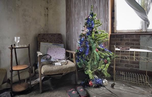 Картинка дом, бардак, праздник, ёлка