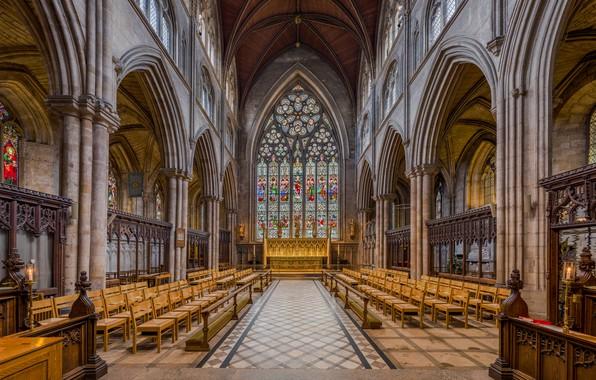 Фото обои interior, North Yorkshire, UK, Diliff, Choir, Ripon Cathedral