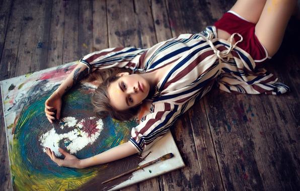 Картинка краски, ножки, творчество, кисть, Анастасия Щеглова
