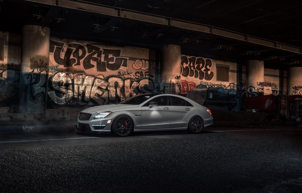 Картинка Light, Mercedes, AMG, White, CLS63, W218, Graphity