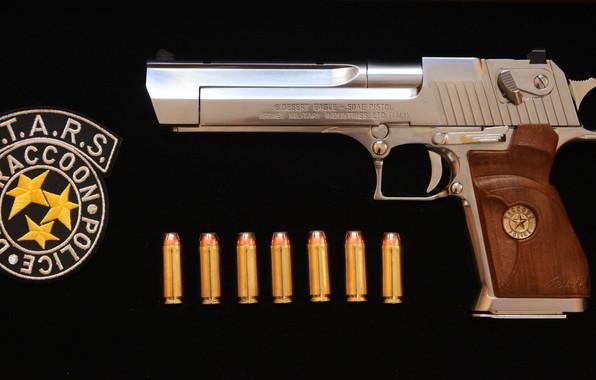 Картинка пистолет, оружие, gun, weapon, Desert Eagle, Residen Evil, S.T.A.R.S., Дезерт Игл