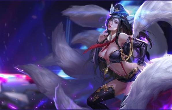Картинка игра, фэнтези, арт, League of Legends, illustrator, work, Ари, li miao, 魔法天堂 阿狸