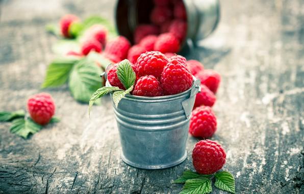 Картинка ягоды, малина, fresh, wood, berries, raspberry
