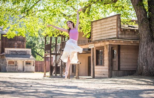 Картинка лето, девушка, танец