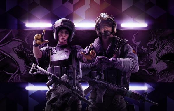 Картинка Девушка, Оружие, Ubisoft, Спецназ, Экипировка, Ubisoft Entertainment, Каска, Ubisoft Montréal, Бронежилет, Tom Clancy's Rainbow Six: …