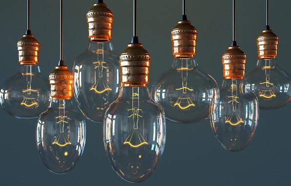 Картинка лампа, арт, Bulb, Виктор Руденко