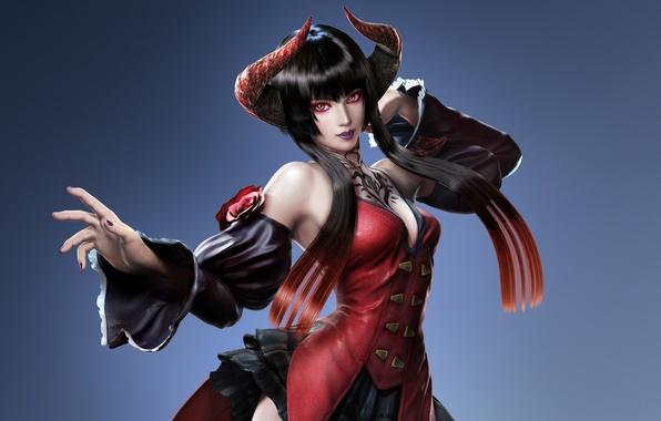 Картинка girl, undead, fighter, immortal, vampire, DLC, Tekken, Revolution, Tekken Revolution, horn, Eliza, Tekken 7, female …