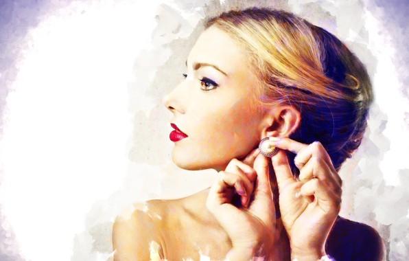 Картинка девушка, арт, профиль, сережка