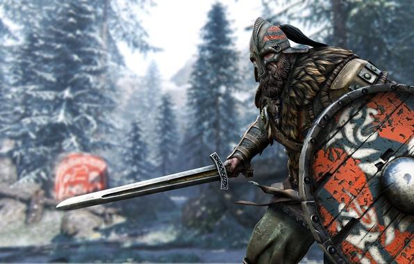 Картинка sword, game, armor, ken, blade, viking, helmet, For Honor