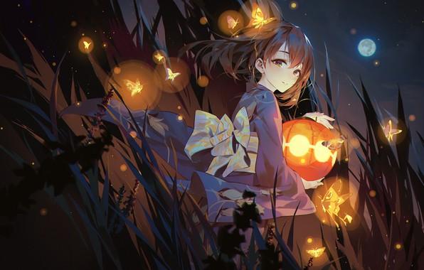 Картинка девушка, аниме, арт, фонарь, IdolM@ster
