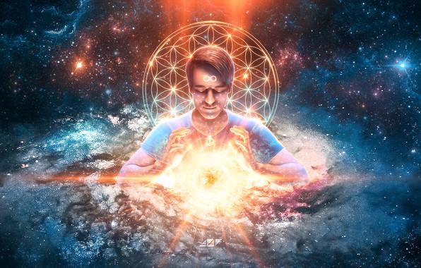 Картинка энергия, солнце, космос, свет, безмятежность, спокойствие, звезда, глубина, дух, звёзды, медитация, галактика, space, light, star, …