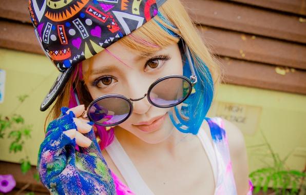 Картинка взгляд, лицо, стиль, азиатка
