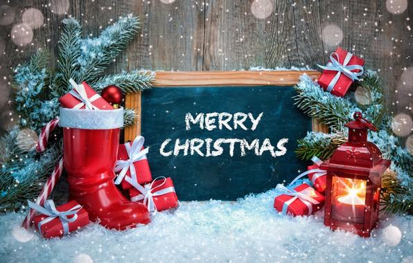 Картинка зима, снег, украшения, елка, Новый Год, Рождество, Christmas, winter, snow, Merry Christmas, Xmas, decoration