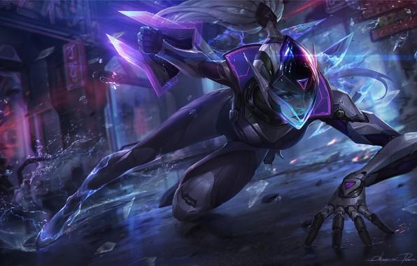 Картинка игра, фэнтези, арт, League of Legends, Riot Games, Chengwei Pan, Project Vayne splash for League …