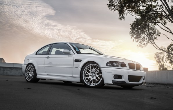Картинка BMW, White, E46, Bummer
