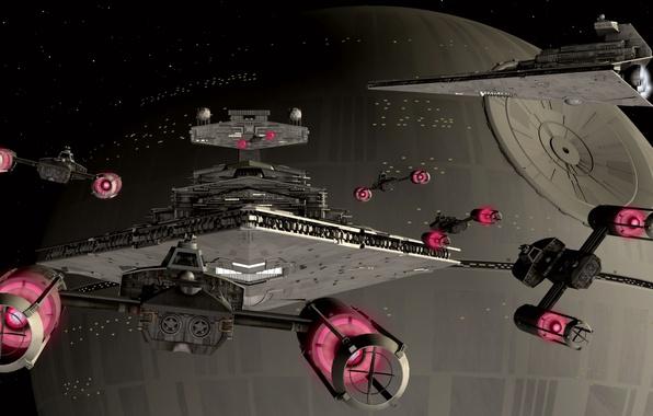 Фото обои корабли, Star Wars, звездные войны, Y-WING