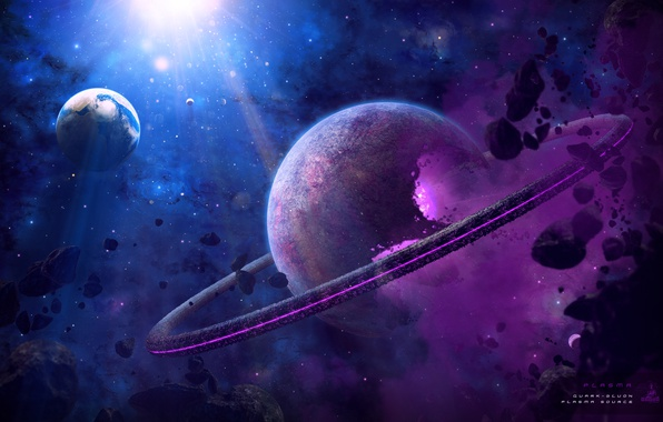 Картинка небо, фантастика, планеты, by BoOdA6tem