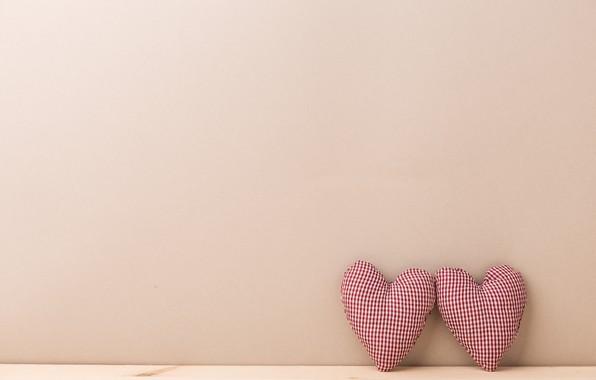Картинка фон, игрушки, минимализм, Сердечки