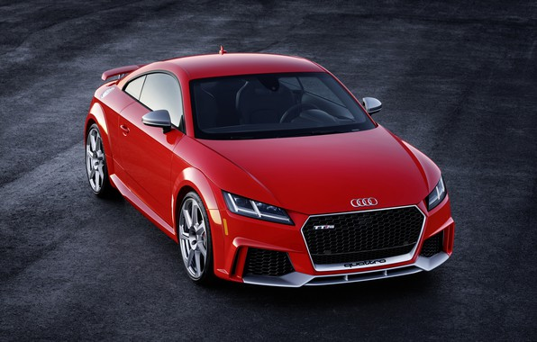 Картинка Audi, German, Red, 2018, RS, TT