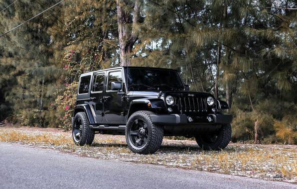 Картинка Black, Wrangler, Jeep