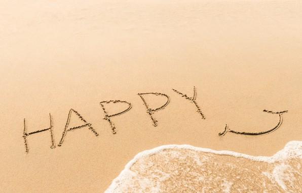 Картинка песок, море, волны, пляж, лето, счастье, улыбка, summer, happy, beach, sea, smile, sand, wave