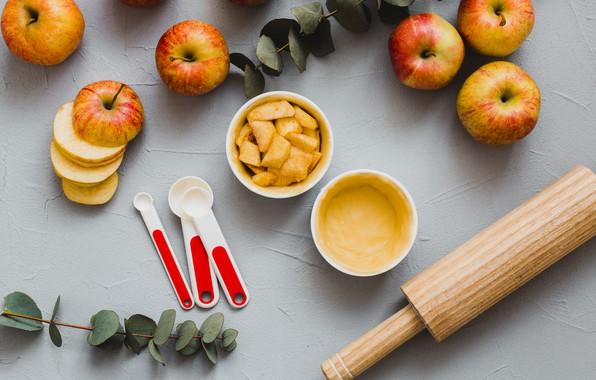 Картинка яблоки, десерт, выпечка, apples, пироги