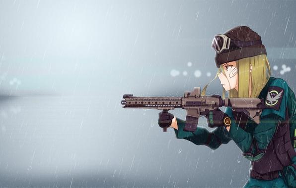 Картинка girl, gun, game, military, weapon, anime, rifle, Tom Clancy's, seifuku, Tom Clancy's The Division, The …