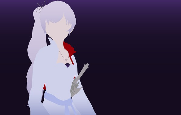 Картинка kawaii, sword, dress, minimalism, anime, pretty, ken, blade, bishojo, Weiss Schnee, RWBY, japonese