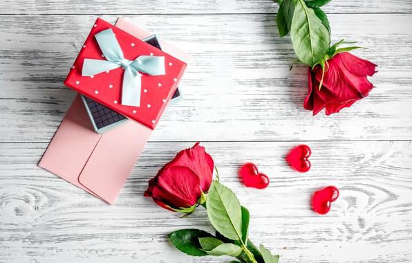 Картинка любовь, цветы, розы, букет, сердечки, красные, red, love, wood, flowers, romantic, hearts, Valentine's Day, gift, ...