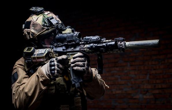 Картинка soldier, Military, elite, helmet, equipment