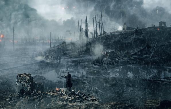 Картинка война, игра, солдат, Electronic Arts, Battlefield 1