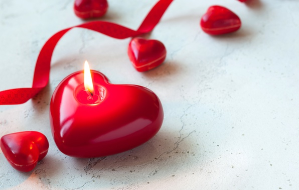 Картинка свечи, red, love, heart, romantic, candle, valentine`s day
