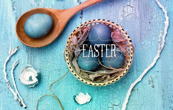 Картинка праздник, яйца, Пасха, wood, декор, Easter, Eggs