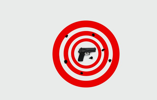 Картинка пистолет, фон, мишень
