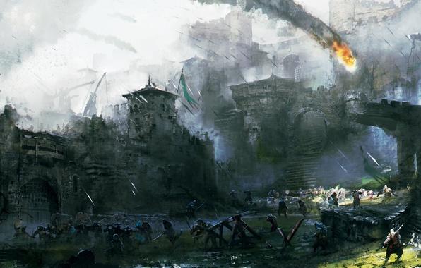 Картинка Art, Ubisoft, Game, For Honor, Courtyard's Battle