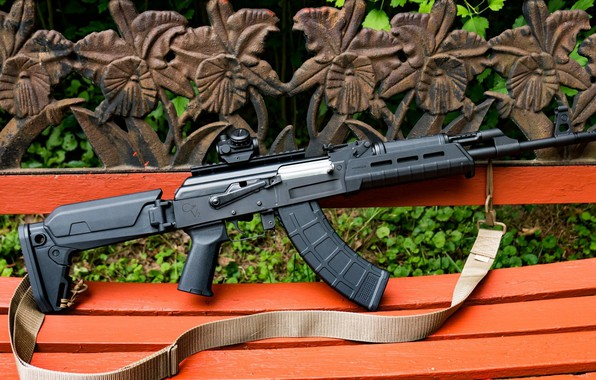 Картинка оружие, тюнинг, автомат, weapon, кастом, Калашников, Custom, АКМ, Калаш, AKM, штурмовая винтовка, assault Rifle, 7.62