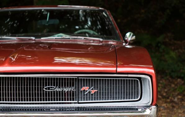 Картинка ретро, решётка, классика, Charger, Dodge Charger