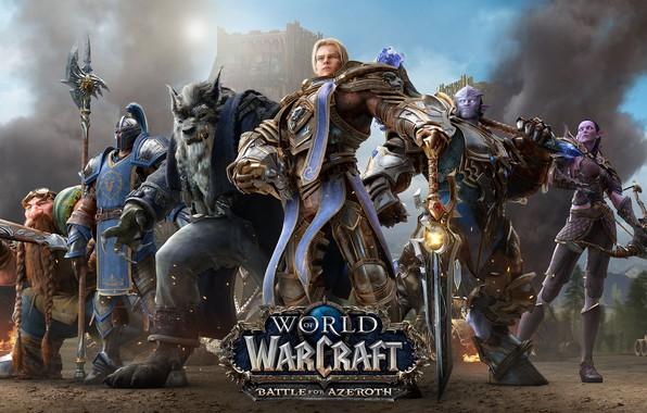 Фото обои World Of Warcraft, Anduin Rynn, Альянс, Битва за Азерот