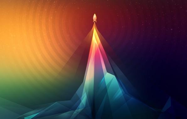 Картинка абстракция, абстракт, ракета, rocket
