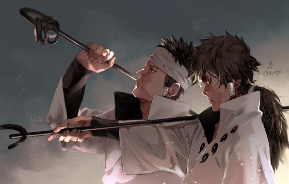 Картинка братья, Naruto, art, Indra Ootsutsuki, by zyop111, Ashura Ootsutsuki