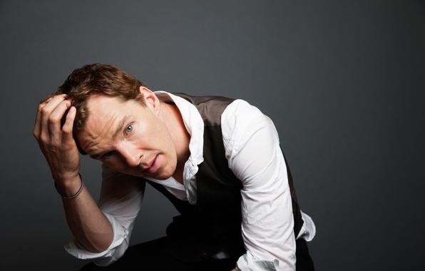 Картинка взгляд, лицо, мужчина, рубашка, Бенедикт Камбербэтч, Benedict Cumberbatch