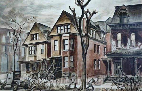 Картинка Charles Ephraim Burchfield, 1927-28, Civic Improvement