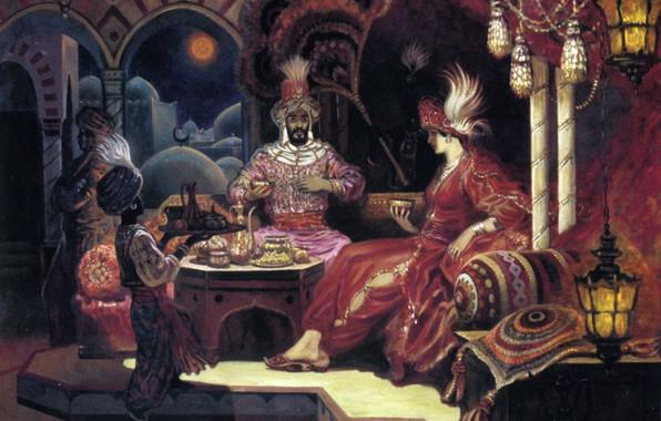 Картинка восток, султан, Ольшанский Борис Михайлович, Сказка красного дворца