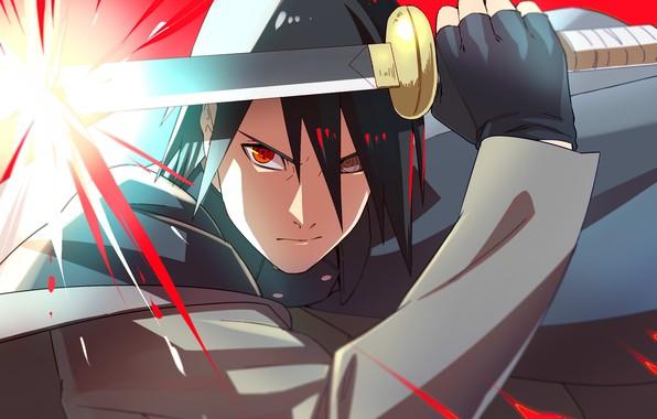 Картинка злость, Naruto, katana, sharingan, Uchiha Sasuke, rinnegan, Boruto Naruto Next Generations, by curamubuono