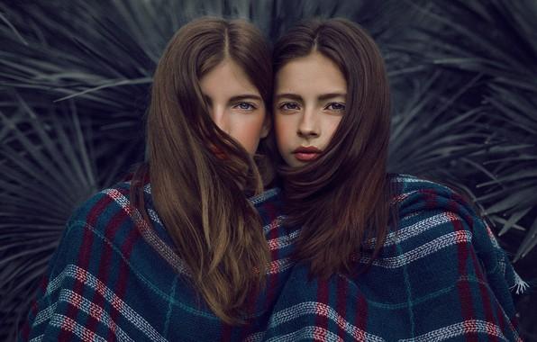 Картинка взгляд, лицо, девушки, волосы