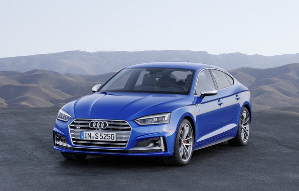Картинка Audi, German, Blue, 2018, A5, S5