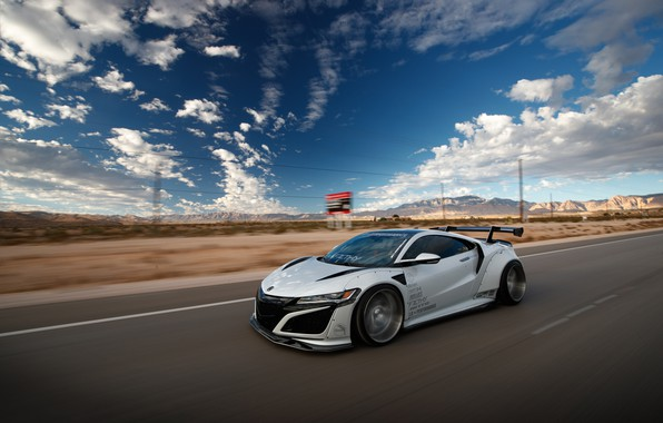 Картинка Honda, speed, Acura, NSX, Liberty Walk, Larry Chen