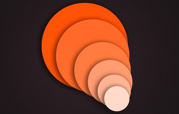 Фото обои фон, круг, объем
