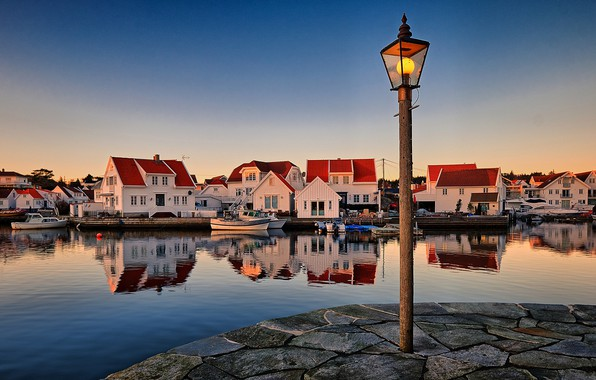 Картинка Норвегия, фонарь, Norway, Skudeneshavn