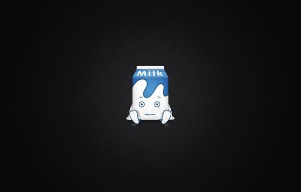 Картинка глаза, ноги, рот, руки, молоко, пакет, milk, пачка молока